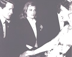 Bob being presented to Her Majesty, Queen Elizabeth II